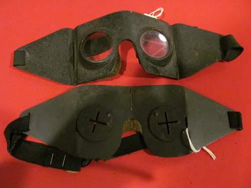 Unusual Flak googles/Civil defense goggles