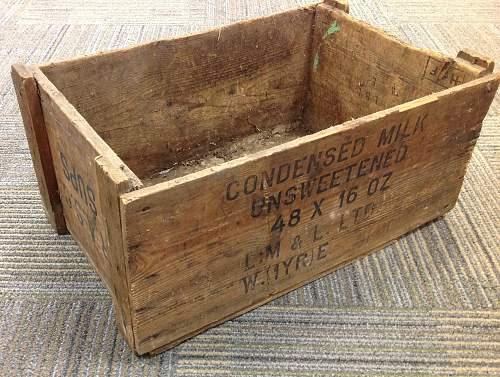 British Army Condensed Milk Crate