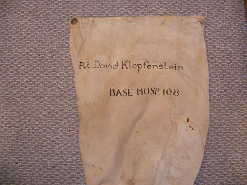 WWI and WWII Duffle bags.