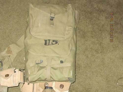 M1928 Haversack WW2 gear