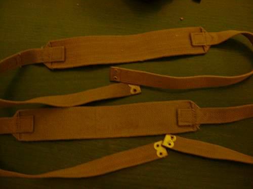 ww2 British webbing cross straps