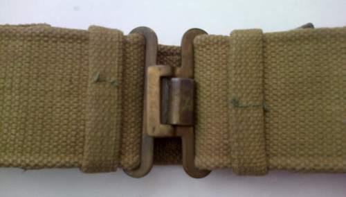 British 1937 pattern late war issue webbing belt