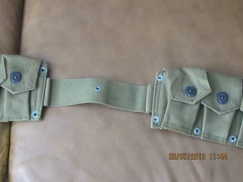 Korean War cartridge belt?