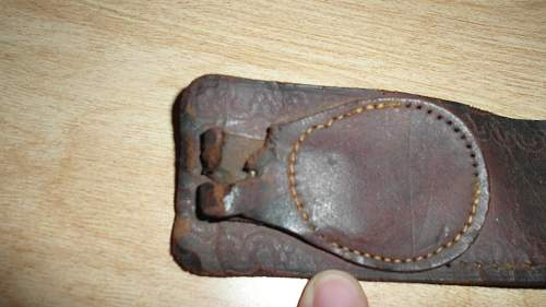 IS this leather belt military? I got it from flea market with a bunch of military uniforms and equipment.