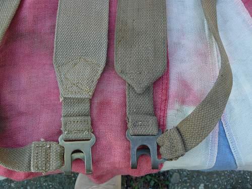 Variations of the P-37 Shoulder straps (L-straps)