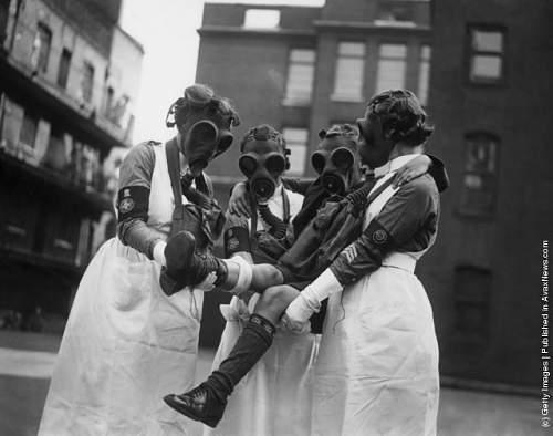Mid wars British gas masks.