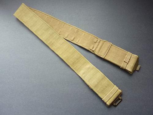 Late war odd economy P-37 waist belt