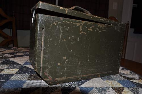 Two ammo cans. WW2 vintage or earlier?