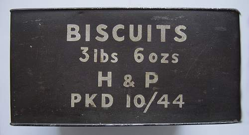WW2 Biscuit ration tin