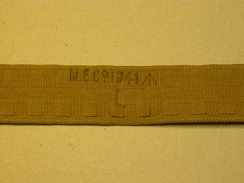 Late war odd economy P-37 waist belt
