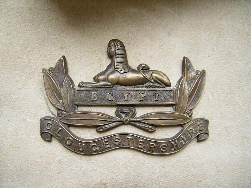 Gloucester regiment buff cartridge pouch