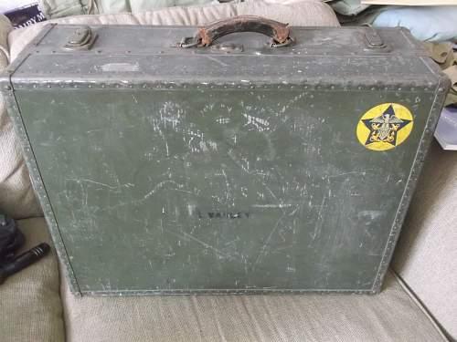 US Navy Suitcase. WW2?