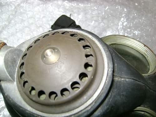MarkV respirator paint on exel valve
