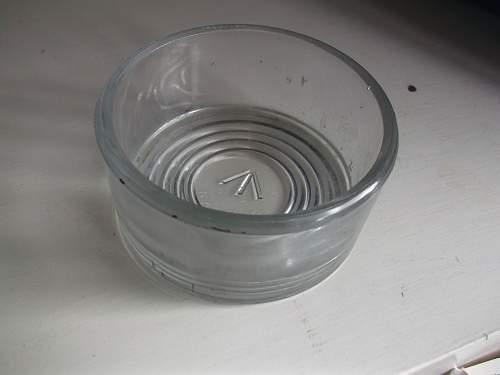 War Department marked glass dish/ pot