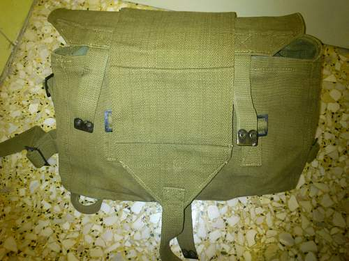 Greek Army bag with some goodies