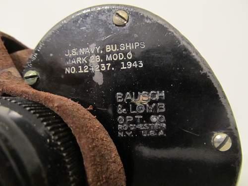 U.S. Navy Bausch and Lomb MK28 Binoculars