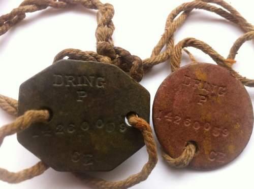 ww2 British Soldier's dog tags?