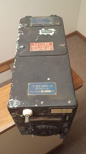 1944 Aircraft T-22/ARC-5 (BC-459) Transmitter