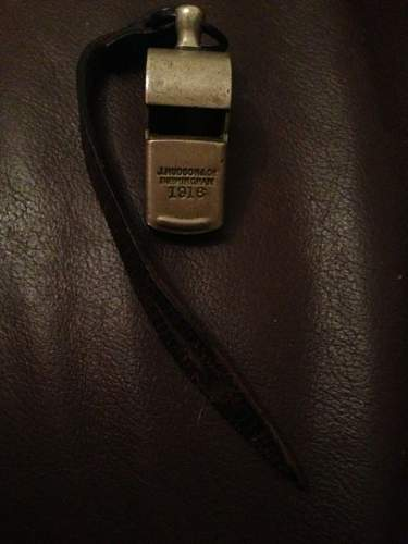 WW1 HUDSON & Co MILITARY OFFICERS TRENCH WHISTLE