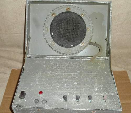 I Need help with information on my 1938 Navy Telephone Amplifier for Underwater Communication