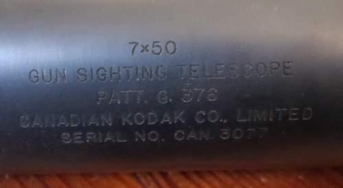 ww2 canadian kodak gun sighting telescope