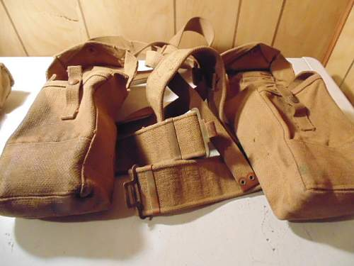 War time dated P-37 waist belt and patrol pouches