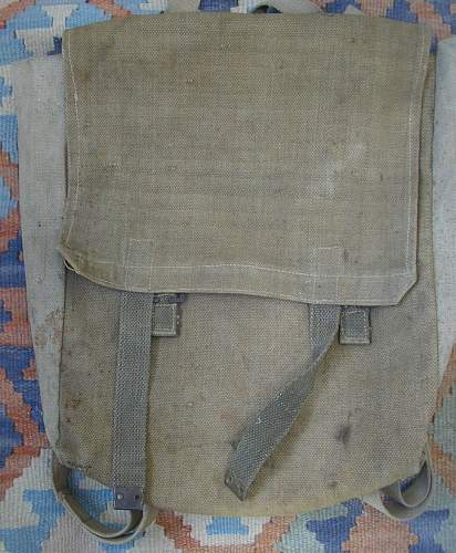 P37 large pack, named and unit marked