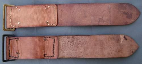 Unidentified British leather straps - like Pattern '39