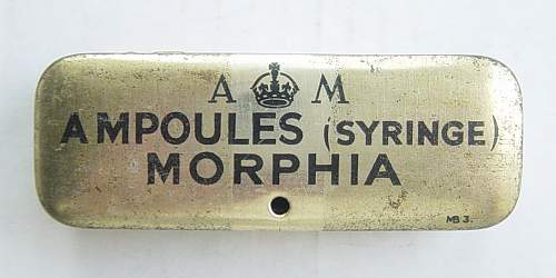 A couple of Air Ministry marked Morphine tins