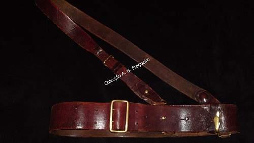 Sam Browne leather belt