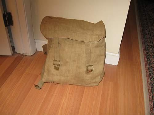 Odd WW2 British bag or field pack