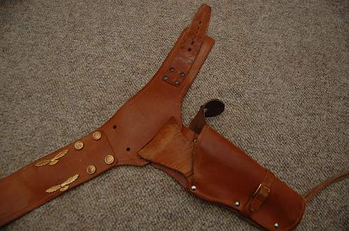Unusual Gunbelt and holster RCAF