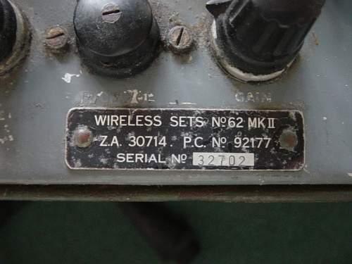 British No.62 wireless set