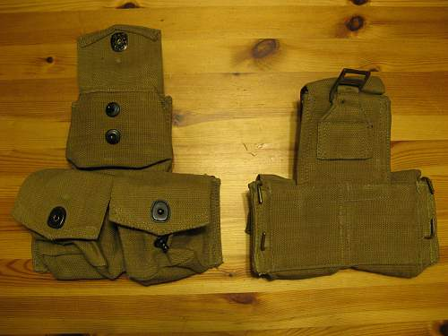 WWII Canadian rifle pouches?