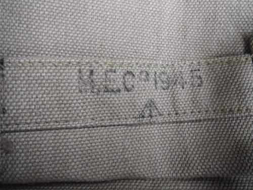 FAKE! Commonly encountered fake markings on British webbing...
