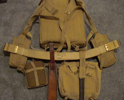 Indian-made Pattern 1937 Webbing Set Overview