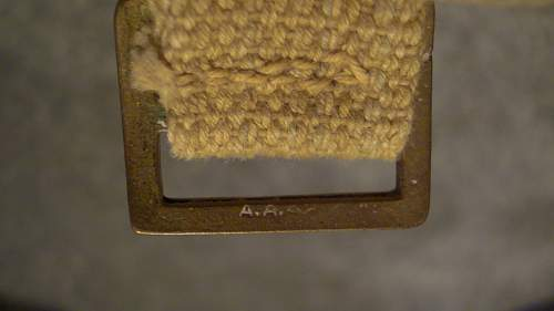 Click image for larger version.  Name:31 Haversack buckle marked 'A.A. 42'.jpg Views:104 Size:232.1 KB ID:657392