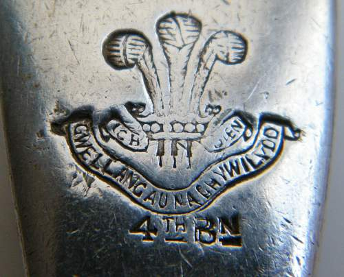 Click image for larger version.  Name:Welsh 4th bn spoon detail.jpg Views:97 Size:220.1 KB ID:659297