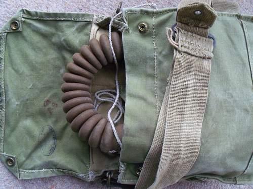 British army gasmask, genuine Titled owner
