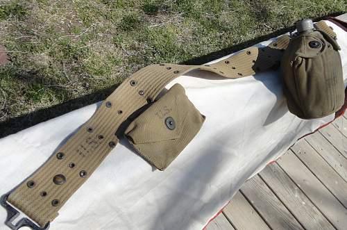 US Pistol Belt Canteen, First aid Pack