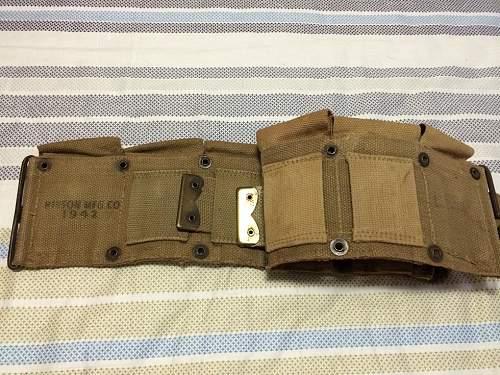 Cartridge belt ww2?