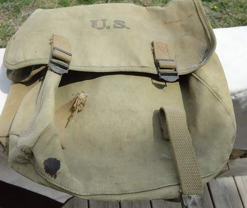 Musette Pack Dated 1943