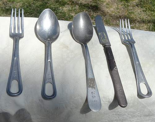 Some US Forks, Knife, and Spoons