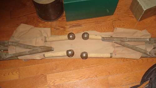 Original WW2 Canadian folding Stretcher