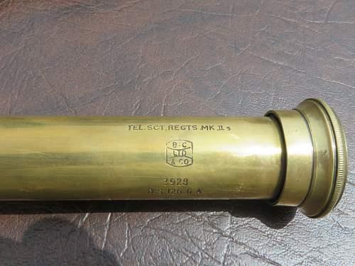 Telescope in leather case