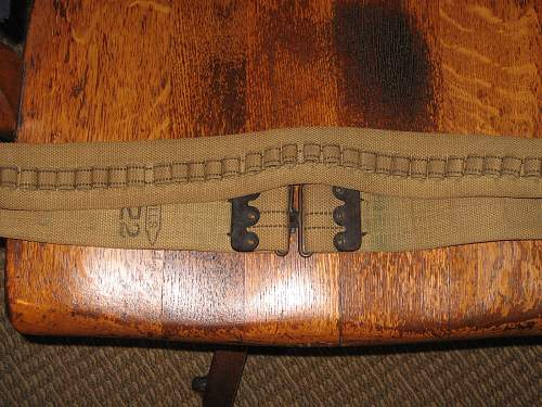 My New World War One Web Belts and the like