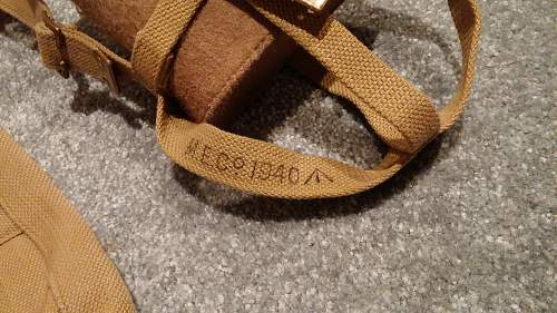 Early War British Officer's Pattern 1937  Webbing Set (MECᴼ 1938-1941)