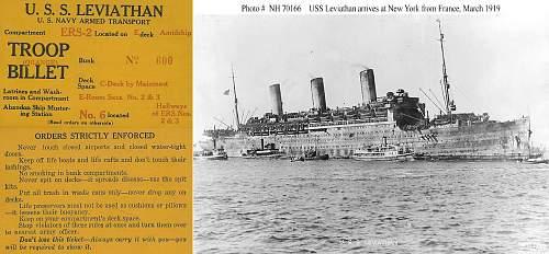 USS Leviathan-Originally the Vaterland-Key Tags and Bayonet ...