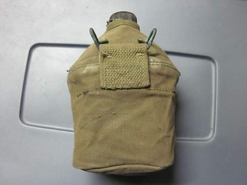 U.S. - USMC canteen cover & Bakelike gripped mess knife