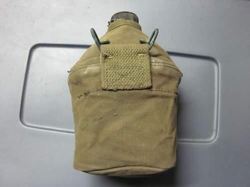 U.S. - USMC canteen cover & Bakelike gripped mess knife